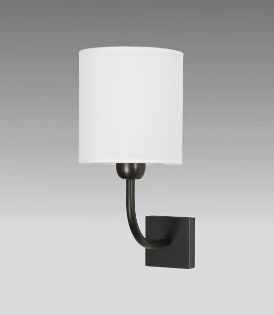 ABA 1 in brushed bronze with lampshade in chinette cristal