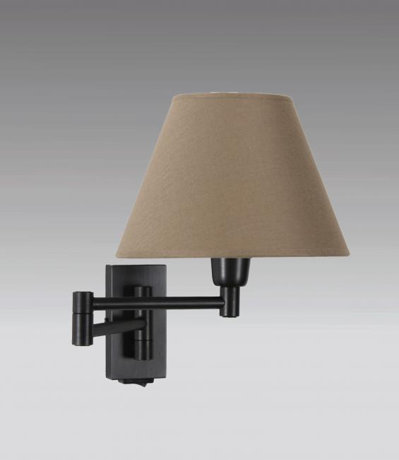 MAMMISI +SW in brushed bronze with lampshade in seta taupe