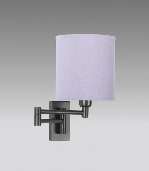 MAMMISI -SW in brushed bronze with lampshade in bombay lavande