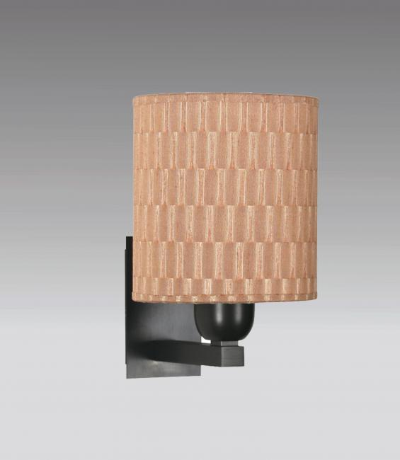 RAMOSE 1 in brushed bronze with lampshade in boston saumon