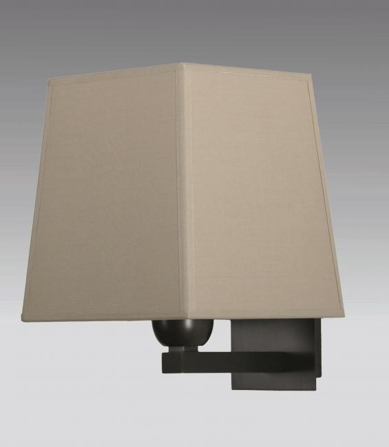 RAMOSE 2 in brushed bronze with lampshade in seta pirée
