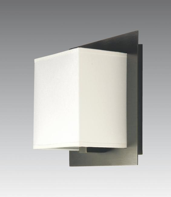 DEIR 1 in brushed bronze with lampshade in chinette ivoire