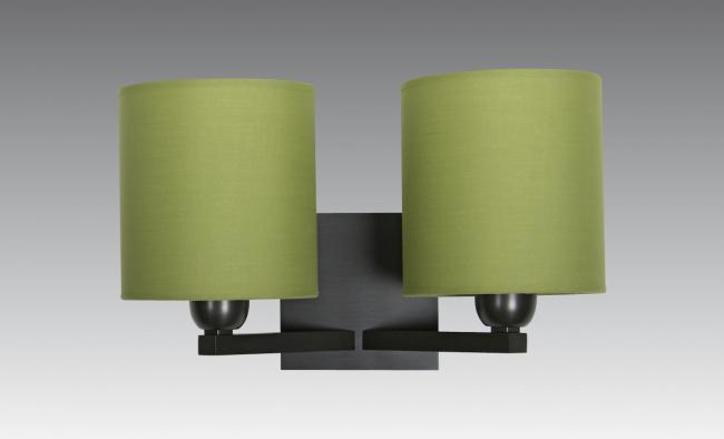 SECHAT cyl in brushed bronze with shades in coton vert prairie