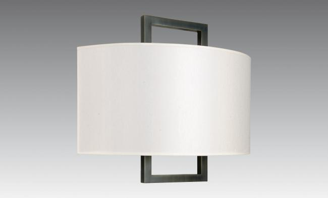 KARANIS 2 in brushed bronze with shade in chinette ivoire