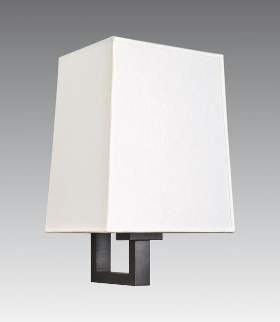 TOURI 1 in brushed bronze with lampshade in chinette ivoire