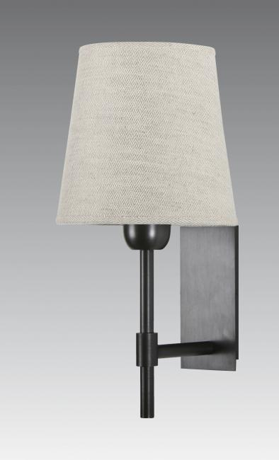 NECTANEBO 1 in brushed bronze with lampshade in lin bergen