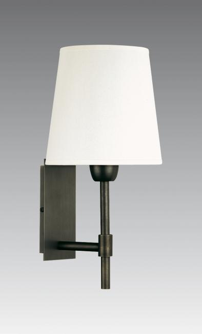 NECTANEBO 1 in brushed bronze with lampshade in chinette ivoire