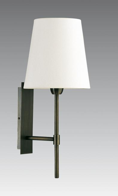 NECTANEBO 2 in brushed bronze with lampshade in chinette ivoire