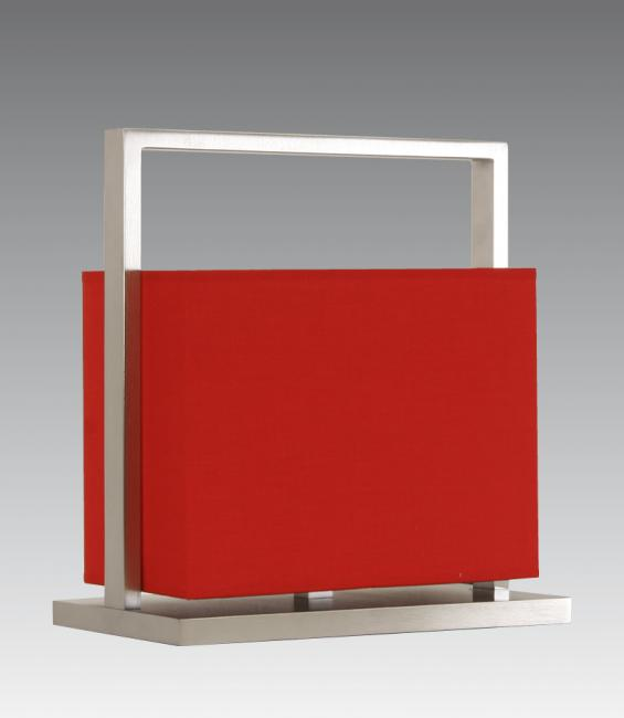 KEMES 1 in brushed chrome with shade in  coton rouge