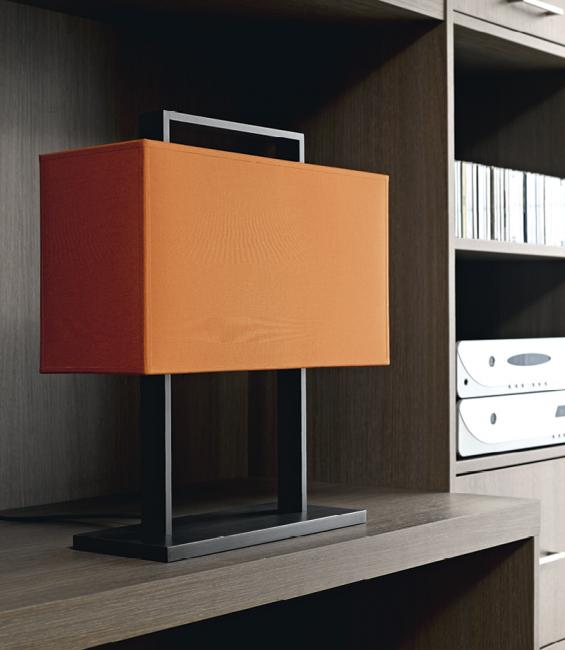 MANDOULIS in brushed bronze with shade in seta rouille