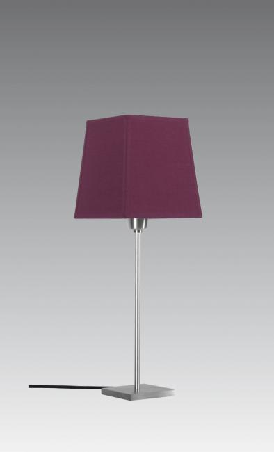 ANOUKIS 1 # in brushed chrome with shade in coton violet