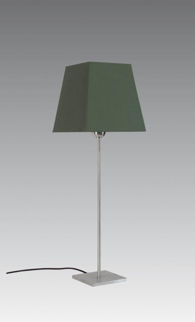 ANOUKIS 3 # in brushed chrome with shade in seta vert-sauge