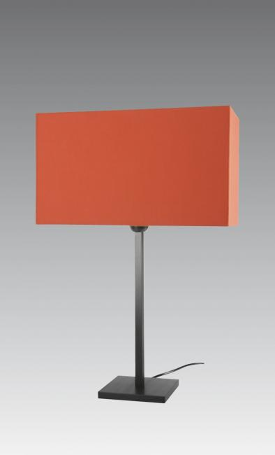 MENNA 2 cyl in brushed bronze with rectangular shade 40x17 cm in coton paprika