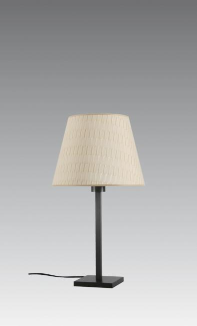 MENNA 1 in brushed bronze with conical lampshade in Boston sable