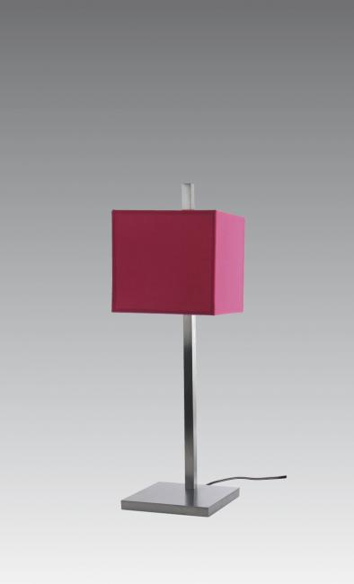 FARAS 1 in brushed chrome with shade in coton fuchsia