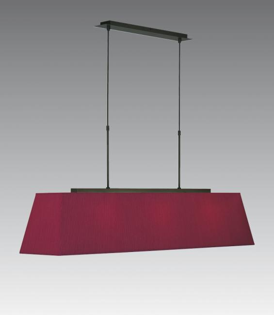 HENOUTMIRE 3 LARGE in brushed bronze with shade in seta framboise