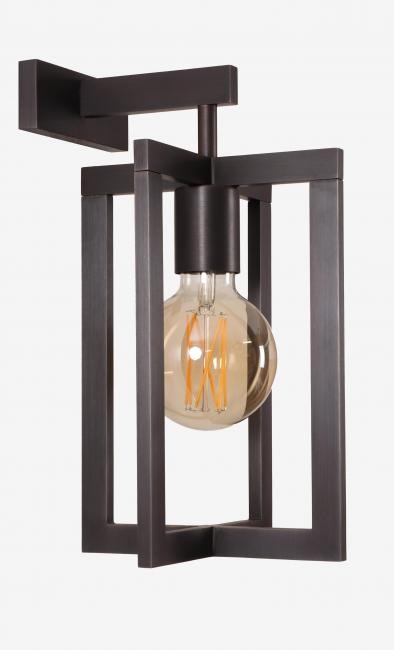 QENA 2 in brushed bronze with round decorative bulb of Ø95mm. Exists in smaller size (QENA 1)