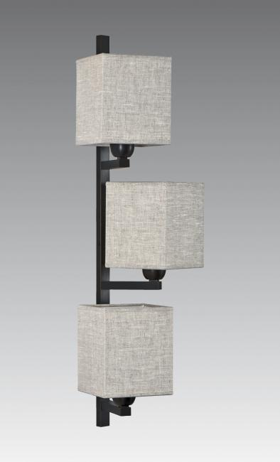 BOUTO in brushed bronze with lampshades in lin moscou
