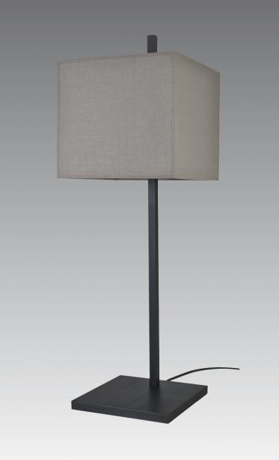 FARAS 2 in brushed bronze with shade in coton gris