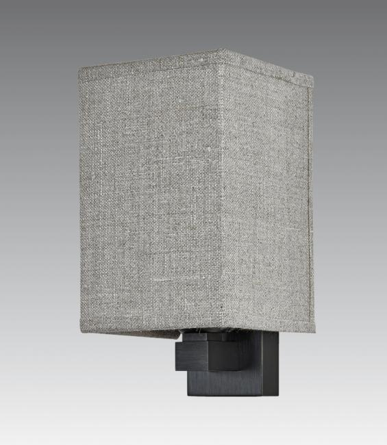 FAYOUM in brushed bronze with lampshade in lin pompéi