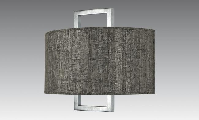 KARANIS 2 in brushed chrome with shade in trento lave