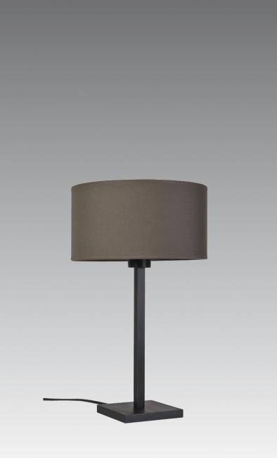 MENNA 1 cyl in brushed bronze with cylindrical shade in coton pavé du nord