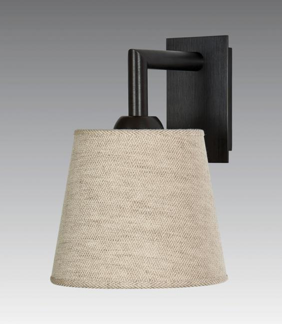 EDFOU 1 in brushed bronze with lampshade in lin bergen