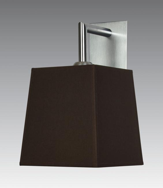 EDFOU 2 # in brushed chrome with shade in seta marron