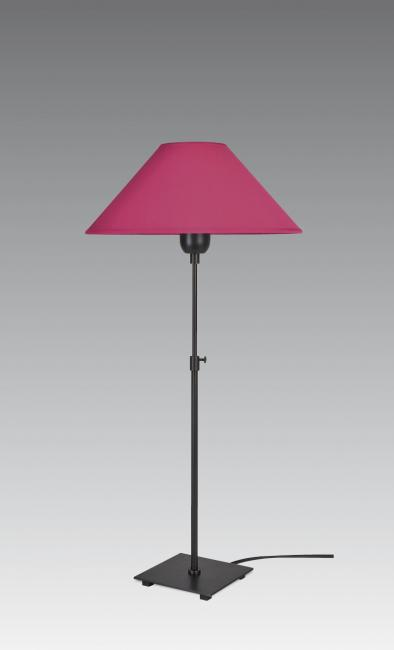 ZABOU 1 in brushed bronze with shade in coton fuchsia
